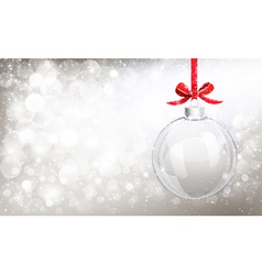 Christmas glass ball vector image