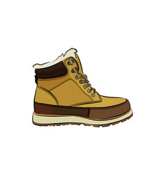 men colorful winter boots on white background vector image