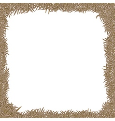 Dry grass frame vector