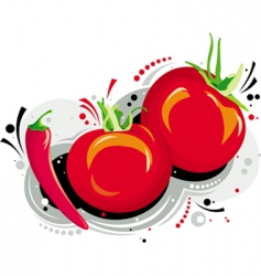 red tomatoes vector image