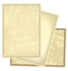 old retro frames with grungy background vector image
