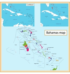 The bahamas map vector