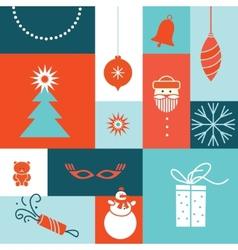 merry christmas tree post card vector image