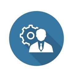 Management Icon Business Concept Flat Design vector image