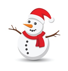 Snow man vector