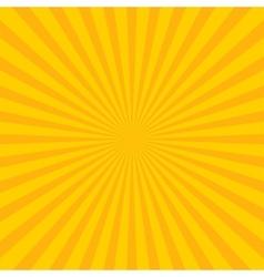 Yellow abstract sun rays Eps 10 vector image