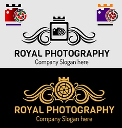 Royal photography logos vector