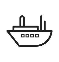 Delivery ship vector