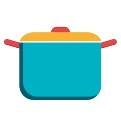 Colorful cooking pan graphic vector