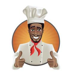 African men smiling chef vector