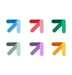 arrow icon abstract logo template vector image vector image