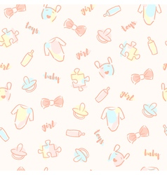 Baby girl pattern vector
