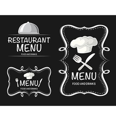 Banner design with restaurant menu vector
