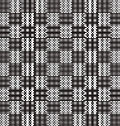 black and white seamless fabric texture pattern vector image