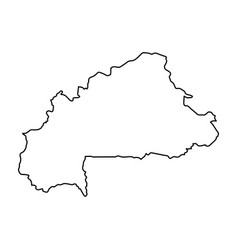 Burkina faso map of black contour curves on white vector