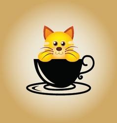 CatCoffee vector image