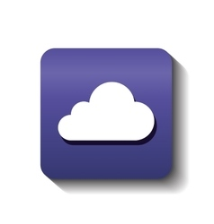 Cloud computing symbol isolated vector