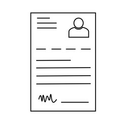 curriculum icon vector image