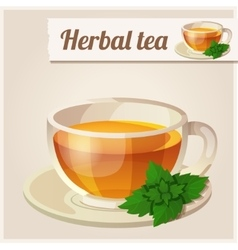 Detailed Icon Mint tea vector image vector image