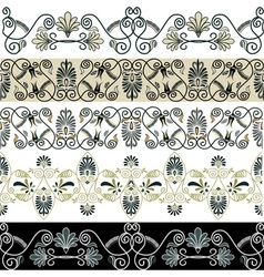 greec patterns vector image