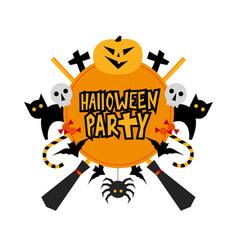 Halloween party sign vector