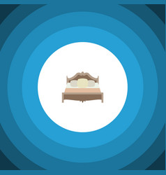 Isolated mattress flat icon bedroom vector