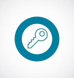 Key icon bold blue circle border vector