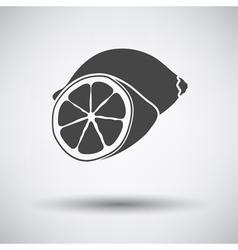 Lemon icon on gray background vector image