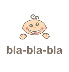 Mad funny kid icon vector