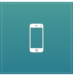 Mobile smartphone icon sign and button vector image