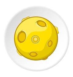 Moon icon cartoon style vector image