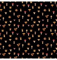 Mushrooms seamless texture with autumn patternon vector