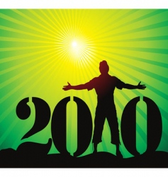 new year 2010 background vector image