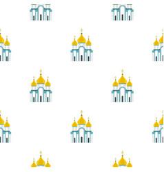 Orthodox church pattern flat vector