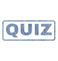 Quiz textile stamp vector