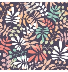 Seamless botanical pattern vector