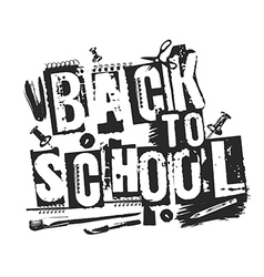 Slogan back to school grunge style vector