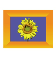 sunflower in frame vector image vector image