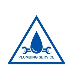 Symbol of plumbing service vector