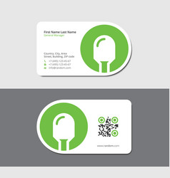 White business card with green rectifier diode vector