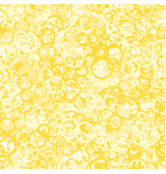 yellow circles seamless pattern vector image vector image