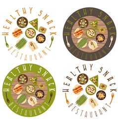 Labels set for healthy food restaurant vector