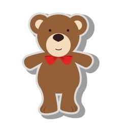 Teddy bear kid icon vector