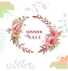 Flower wreath sale vector