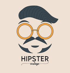 hipster fashion bearded man with sunglasses vector image