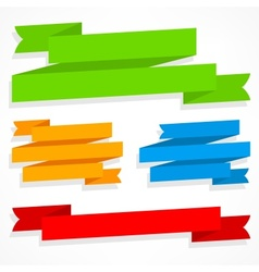 Color ribbons set vector