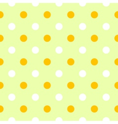 Cute spring polka dots pattern or background vector