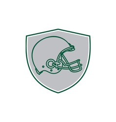 American football helmet line drawing retro vector