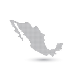 Grey map mexico in the dot vector