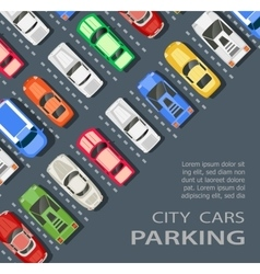 Top view of a city parking vector